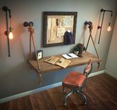 Pair or Single Tall Plug-In Sconces FREE SHIPPING + Filament Bulbs!! Industrial Pipe Lights, …