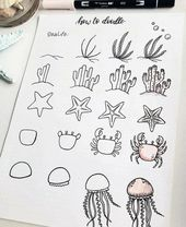 60 Doodle-Tutorials für Ihr Bullet Journal – reb…
