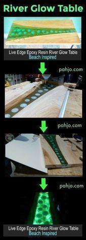 DIY-Pläne für Leuchttische aus Holz und Harz #DIY #EpoxyResinglow #glow #Plans …  – Harzm …. – Epoxy Crafts