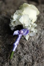 Abzeichen Bräutigam Hochzeit lila Rosen Hortensie weiß Hochzeit Dekor Blume …   – Hochzeitsdeko in lila/flieder