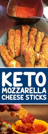 Keto Mozzarella Sticks (Prêt en moins de 30 minutes)