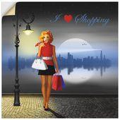 Artland Premium Wandfolie »Mausopardia: Ich liebe Einkaufen« on-line kaufen   OTTO
