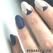 Minimales Nail Modus Gestaltung Blau #Acryl #Nagel #bruiloft #makkelijk #glitter…