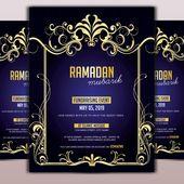 رمضان مناسبة لجمع التبرعات Ramadan Poster Template Design Psd Template Free