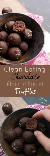 Healthy Chocolate Almond Butter Truffles