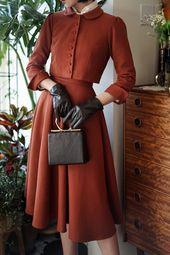 Damenröcke - #womensskirts - Vintage Style Woolen Skirt Damenmode High ...