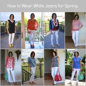 Learn how to Put on White Denims for Spring