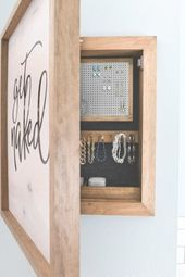 Organize and hide all your jewelry with this beaut…