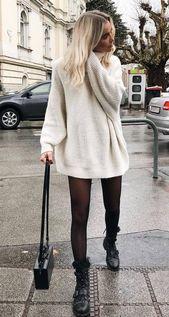30 Bilder, mit was man im Herbst 2019 einen Pullover trägt – Cool Fashion – #Bild…