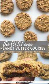 Healthy Peanut Butter Cookies (Gluten Free