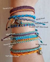 With a colorful, simple macrame bracelet you have the choice between 9 … – Questa Blog