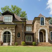 Tan Brick House Exterior Design Ideas Pictures Remodel and Decor