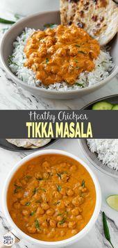 Restaurant style chickpeas Tikka Masala