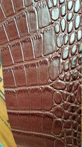 8 x 11 Chocolate Brown Alligator Kunstleder Blatt für Bögen und Schmuck