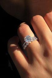 Ungewöhnlich schöne Diamant-Trauringe ★ Mehr s…