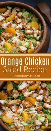 Delicious Orange Chicken Salad Recipe – easy recipe, under 30 minute meal! #FFRu… – Chicken