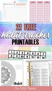 21 Free Printable Habit Trackers – The Petite Planner