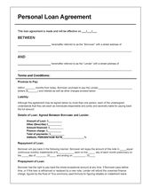 Download Personal Loan Agreement Template Pdf Rtf Word Doc Wikidownload Personal Loans Contract Template Loan