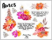 Amos – Bible Journaling Printable. Great for the Illustrating Bible by Dayspring or any bible or faith journal.
