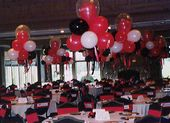 graduation table decorations | Balloon Centerpieces for parties, corporate functions and weddings by ...