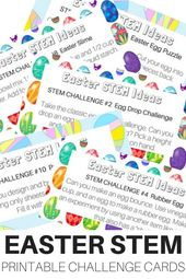 Must Try Easter STEM Challenges (FREE Printable Sheets!)