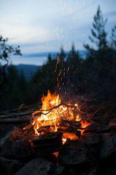 Eld camping natur höstens estetik