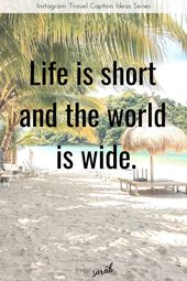 Travel captions for Instagram – beautiful travel quotes to rock your feed! – Travel Inspiration!