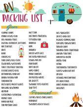 Rv camping hacks, vous devez savoir 44   – Camping checklist