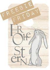 freebie – friday Etiketten für Ostern (Veridiana Fromm) – #Etiketten #Freebie #…