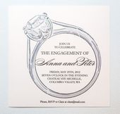 Printable Engagement Party Invitation – Diamond Ring Engagement Announcement   – Wedding