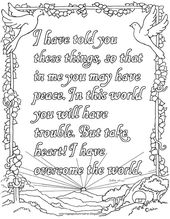 Coloring Pages for Kids by Mr. Adron: John 16:33 Printable Coloring Page.