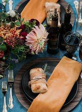 Eine lebendige Herbsthochzeitslandschaft, die mit Sicherheit ein Statement setzt. #dinnerp …   – Dinner Party