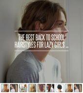Das Beste Zurück zu #Schule Frisuren für faule Mädchen ... - Haare #Mädchen #Haare #hai ...- # Mädchen #Hai