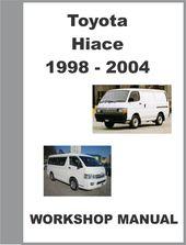 1999 Toyota Hiace Workshop Manual 1