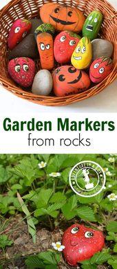Wie man Gartenmarkierungen durch Malen von Steinen macht   – Gardening