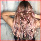 Rose Gold Ombre Haarfarbe Ideen, Irgendwo zwischen voll rosa, Erdbeerblu …