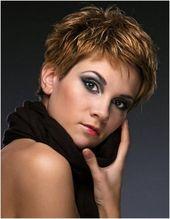 Die Echte Erstaunlich kurze geschichteten Haarschnitt leicht konisch an den Seiten und hinten in Bezug auf Frisur –  – #Kurzhaarfrisuren