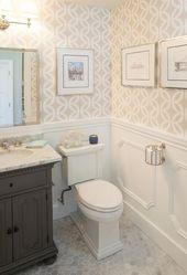 St James Single Vanity in Powder Room, Transitiona…