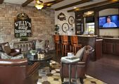 """100's of """"Man Cave"""" Design Ideas (Photos) – Home StratosphereTable of Contents f…"""