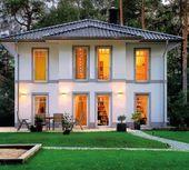 Haus bauen modern klinker  Mediterrane moderne Stadtvilla bauen - mit Garage und Klinker ...