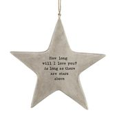 Baby Shower Songs Rustic Hanging Star - How Long Will I Love You