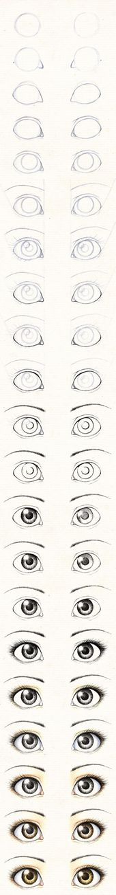 Draw the eyes of a textile doll / Tutorial: Draw eyes …   – crafts
