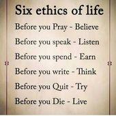 Ethik oder einfache Ehrlichkeit sind die Bausteine, auf denen unsere gesamte Gesellschaft … – life