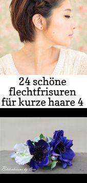 24 schöne Zöpfe für kurze Haare 4   – Haare