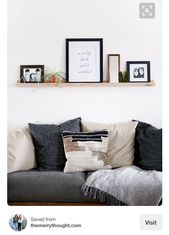 Picture ledge above couch – #abovecouch #Couch #Le…