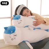Cute Creative Long Cat Pillow Plush Toys Soft Cushion Stuffed Animal Doll Washab…