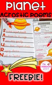 Planet Writing Acrostic Poems FREEBIE