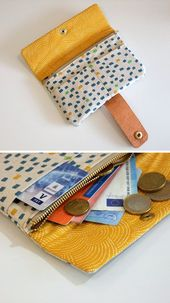 "Free Sewing Pattern (Freebook) Sewing Pattern: Sew on wallet & wallet ""Nina"""