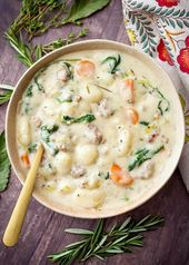 Slow Cooker Creamy Sausage Gnocchi Soup recipe is a delicious, rich comfort food…