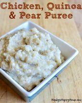Hähnchen-, Quinoa- & Birnen-Babynahrungspüree   – Baby Food